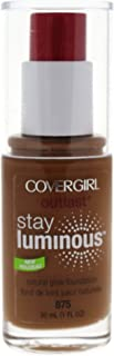 COVERGIRL Outlast Stay Luminous Foundation Soft Sable 875, 1 oz (packaging may vary)