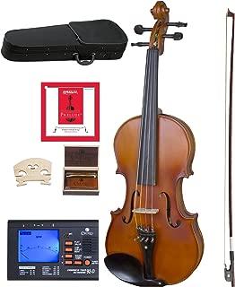 Cecilio CVA-500 Solidwood Ebony Fitted Viola with D'Addario Prelude Strings, Size 13-Inch