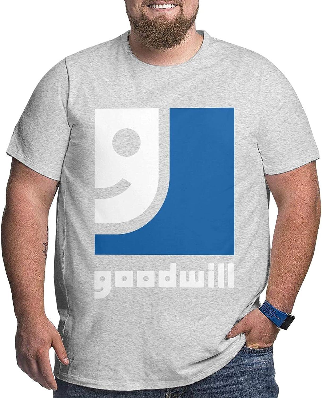 Goodwill Industries Logo Mans Simple Big Size Summer Outdoor Short Sleeve Round Collar Tee