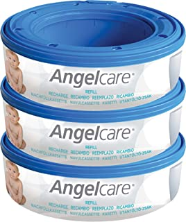 3 X Angelcare Nappy Disposal System Refill Cassettes Wrappers Bags Sacks Pack Best Quality Fast Shipping Ship Worldwide