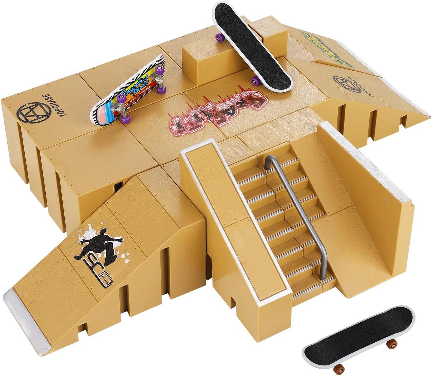 Skate Park Kit, Hometall Skate Park Kit Ramp Parts for Finger Sk