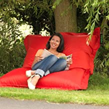 Bean Bag Cover Only, Large Washable Furniture Bean Bag Cover Without Bean Filling (Red)
