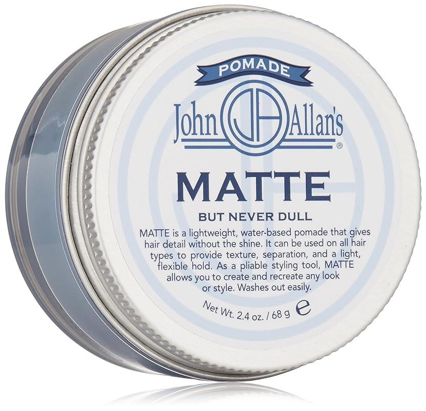 グレースキャンダルターミナルJohn Allan: Styling Pomade Matte, 2 oz by John Allan's
