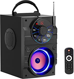 Wireless Bluetooth Speakers with Subwoofer Rich Bass Portable Bluetooth Speaker with Light Big Speaker FM Radio MP3 Player... photo