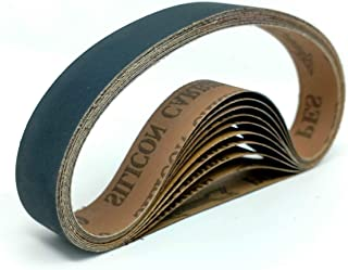 """1""""X18"""" 800 Grit Sanding Belts - 10 pack Silicon Carbide fits Ken Onion Blade Grinding Attachment"""