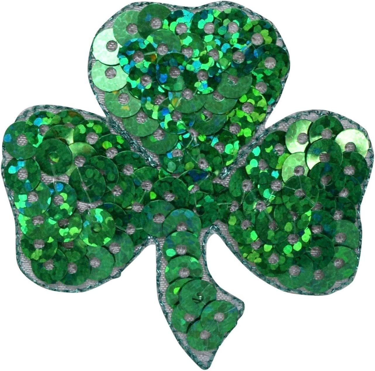 Sequin Max 64% OFF Irish Shamrock Our shop OFFers the best service Clover Embroidered Iron on Patch