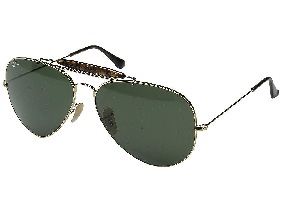 Ray-Ban RB3029 62mm (Gold/Dark Green) Fashion Sunglasses