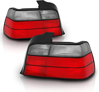 AmeriLite 4 Door Taillights Red/Smoke for BMW 3 Series E46 - Passenger and Driver Side