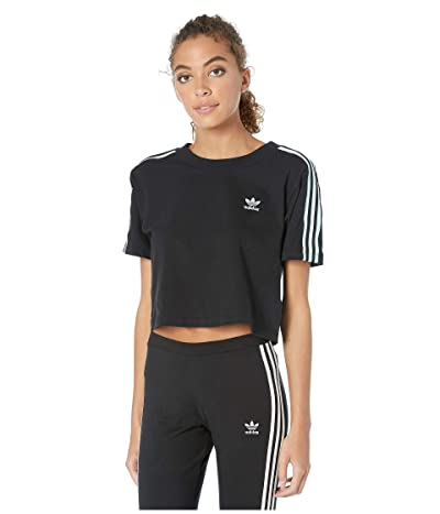 adidas Originals 70s Kick Cropped Tee (Black) Women