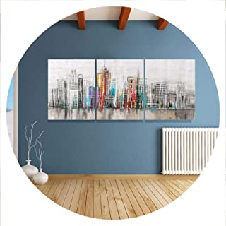 lovehouse21 Home Decor Canvas Painting City Street Wall Art Picture Print On Canvas Modern Wall Picture Living Room No Frame Hy87,30X40Cm3Pcs No Frame,Canvas Painting 7