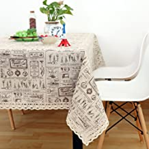 Cloth Tablecloths,Desktop decoration [retro] Desktop homeowner tablecloth Fluid systems Multi-purpose Indoor Decoration Washable Resistant-G 140x220cm(55x87inch)