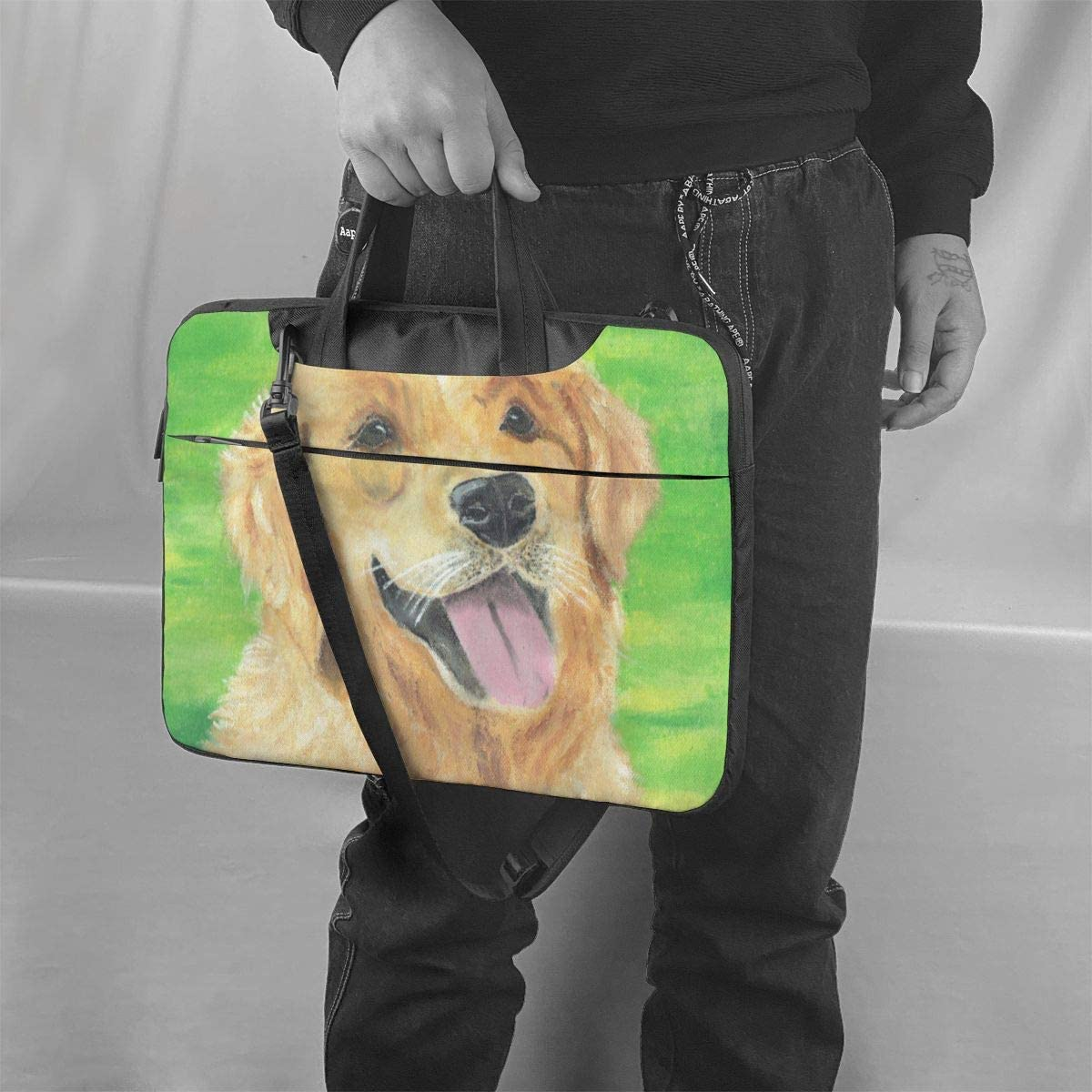 Shockproof Laptop Bag Cool Puppy Dog Computer Bag Durable Satchel for Unisex Case Sleeve for Computer PC Notebook Tablet 360/¡/ã Cushion Protective Laptop Briefcase 13 14 15.6 Inch