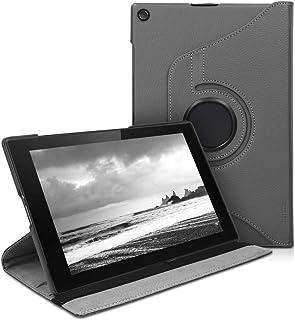 kwmobile Funda Compatible con Sony Xperia Tablet Z2 - Carcasa de Cuero sintético para Tablet en Antracita