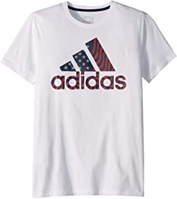 huge discount 09ba9 c5d7a adidas Kids. Branding Graphic Tee (Big Kids). 25.00. White
