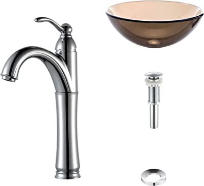 American Imaginations AI-888-2009 Single Hole CUPC Approved Brass Faucet Set In Chrome Color With Drain