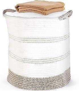 "Laundry Basket, POZEAN Blanket Storage 16"" Plant Basket, Cotton Rope Woven Baskets for Storage, Toy Storage, Dog Toy Baske..."