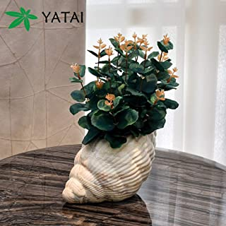 YATAI Conch Vase Flower Vase Siren Planter Home Decor Vase and Table Centerpieces Vase - Ideal Gifts for Friends and Famil...