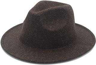 XueQing Pan Women's Men's Winter Autumn Wool Fedora Hat With Wide Brim Sombreros Jazz Hat For Gentleman Church Top Hat Size 56-58CM