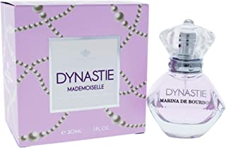 Dynastie Mademoiselle by Princesse Marina de Bourbon | Eau de Parfum Spray | Fragrance for Women | Floral and Fruity Scent with Notes of Mandarin, Lotus, and Musk | 30 mL / 1 fl oz