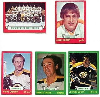 OPC 1973/74 Boston Bruins Lot of 10 Cards Ken Hodge, Johnny Bucyk, Wayne Cashman, Gilles Gilbert, Dallas Smith, Carol Vadnais, Greg Sheppard, Darryl Edestrand, Fred O'Donnell