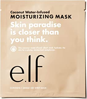 e.l.f. Coconut WaterInfused Moisturizing Sheet Mask, 1 Count