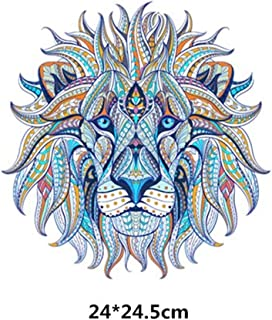 Iron On Patch - 1 Piece 23.5x24cm Lion Patches Iron On Transfer Patches For Clothes Washable DIY Decoration