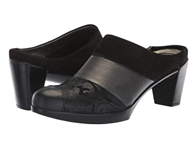 Naot Fortuna (Black Nubuck/Metallic Combo) Women