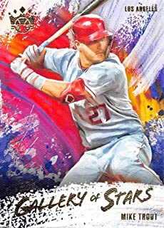 2020 Panini Diamond Kings Gallery of Stars #6 Mike Trout Los Angeles Angels Baseball Trading Card