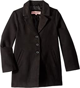 Charlotte Long Length Wool Coat (Little Kids/Big Kids)