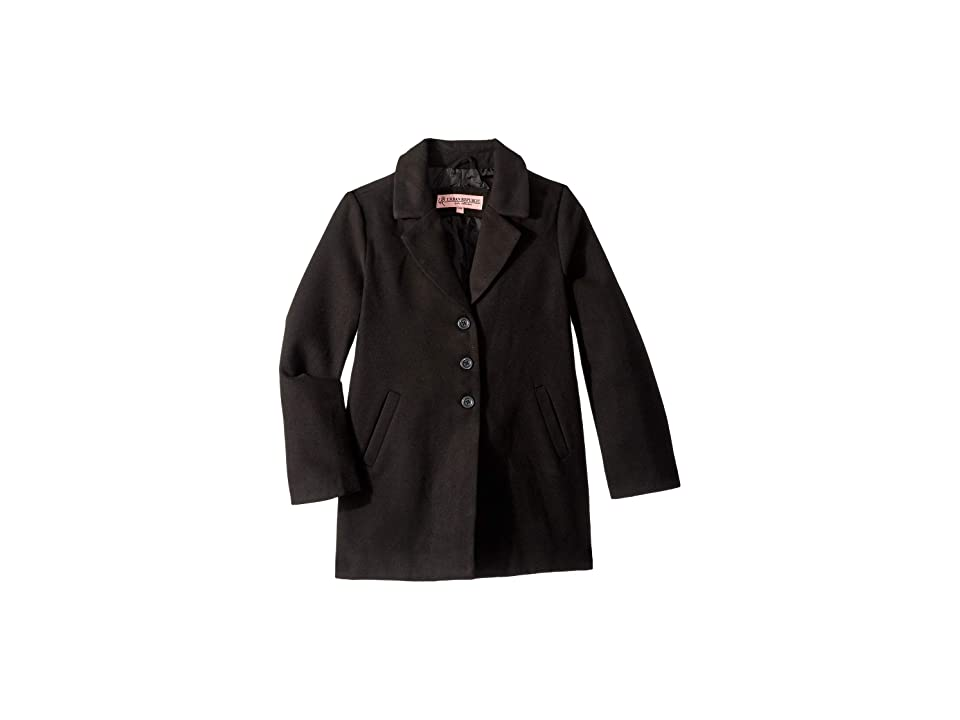 Urban Republic Kids Charlotte Long Length Wool Coat (Little Kids/Big Kids) (Black) Girl
