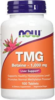 NOW Foods Extra Strength TMG 1,000 mg Tabs, 100 ct