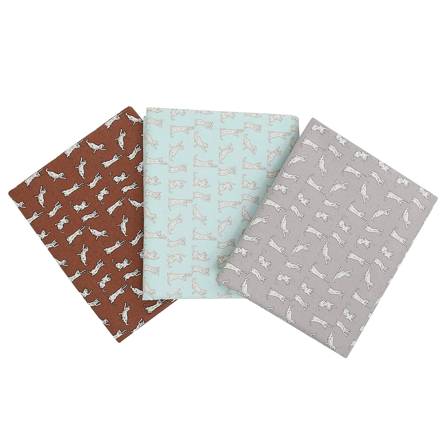 COTTONVILL Organic Cotton Siamese cat Pattern Quilting Fabric 3yds