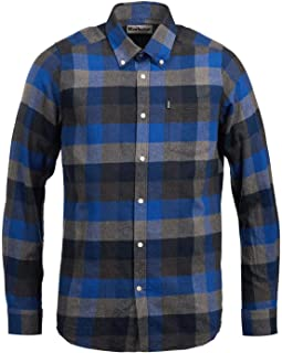 Barbour Mens Tailored Fit Stapleton Angus Check Shirt Atlactic Blue