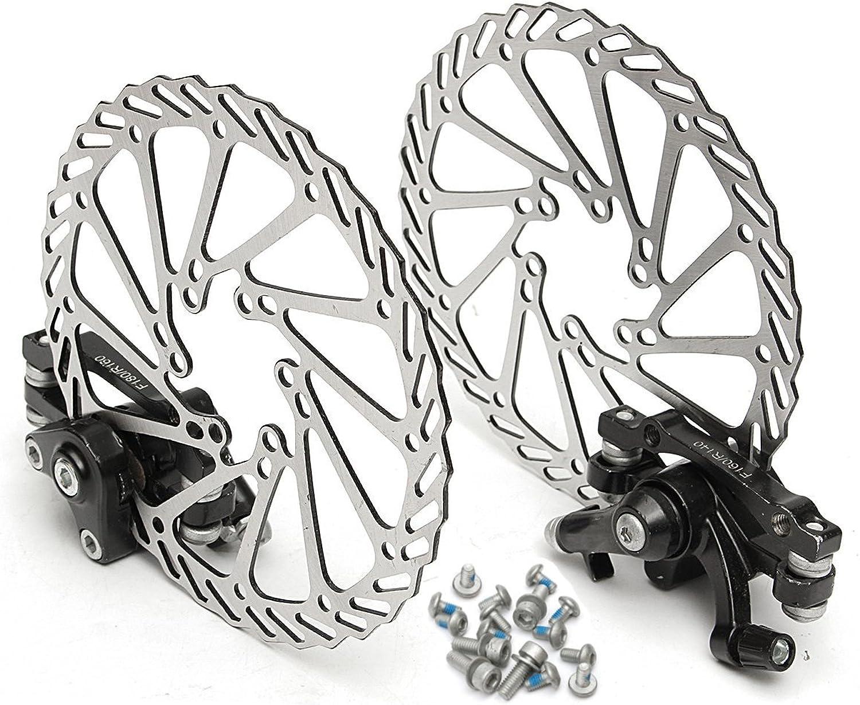 HITSAN BIKIGHT 160MM MTB Bike Mechanical Disc Brake Front and Rear Brake Set One Piece