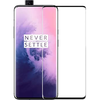 CASE U Tempered Glass for Oneplus 7 Pro/OnePlus 7T Pro Screen Protector,Anti Fingerprint 9H Hardness Full Coverage 3D Curved Bubble-Free Case Friendly Compatible Oneplus 7 Pro/Oneplus 7T Pro
