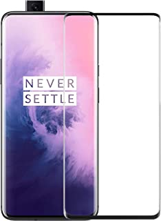 Case U Full Glue Tempered Glass for OnePlus 7 Pro/OnePlus 7T Pro (Black) Edge to Edge Full Screen Coverage with Easy installation kit - Pack of 1