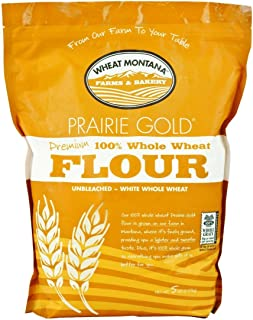 Wheat Montana Prairie Gold 100% Whole Wheat Flour (Pack of Two – 5 Lb. Bags)