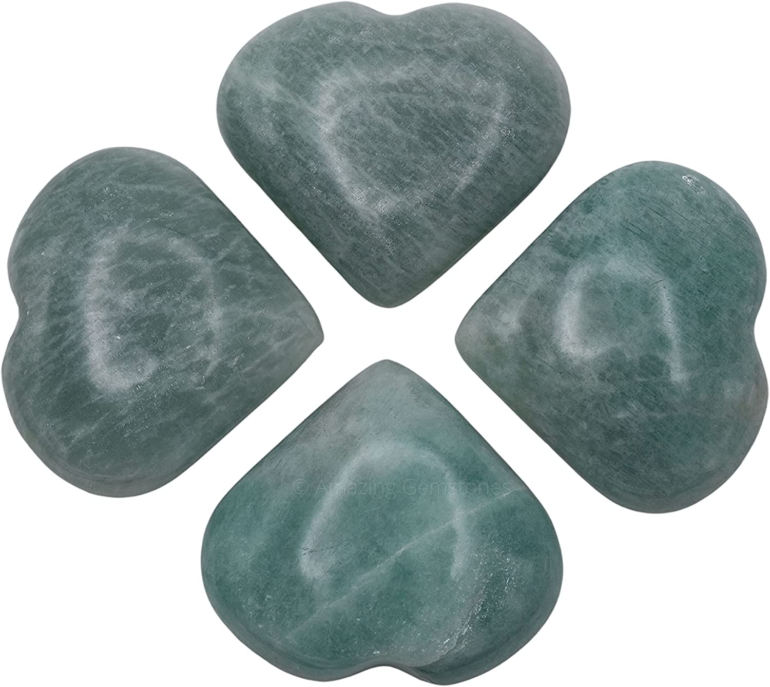 Amazonite Crystal Heart Limited Special Price Palm Stone Worry Max 58% OFF - Massage Pocket