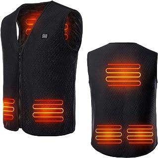 con 3 livelli di calore lavabile gilet riscaldato con ricarica USB QUMocky giacca riscaldante elettrica leggera
