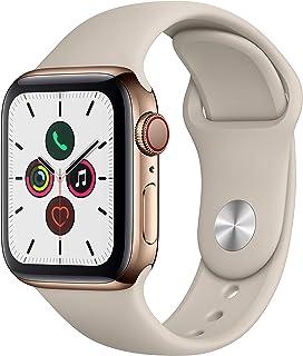 Apple Watch Series 5(GPS + Cellularモデル)- 40mmゴールドステンレススチールケースとストーンスポーツバンド - S/M & M/L