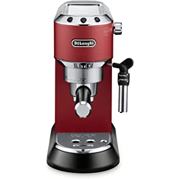DeLonghi America, Inc EC685R Dedica Deluxe 15-Bar Pump Espresso Machine, Red