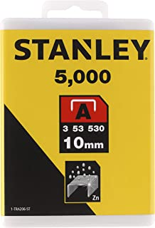 Stanley 1-TRA206-5T Type A Staples, Silver, 10 mm, Set of 5000 Pieces