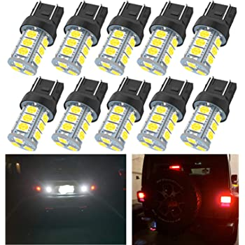 DF Lighting 2 X 1000 Lumens Super Bright 7440 7441 7443 7444 992 T20 LED Bulbs with Projector for Brake Lights 7443 LED Bulb Xenon White