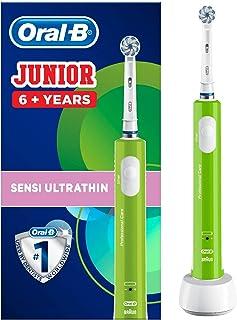 Oral-B Junior Spazzolino Elettrico Ricaricabile per Bambini da 6 Anni, 1 Testina, Verde