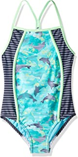 Speedo Girl's Diamond Geo Slice One Piece (7-16)