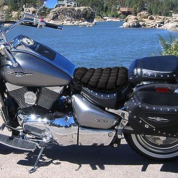 Auzkong Cuscino per passeggero di moto per Harley Cruiser Chopper motocross Custom Marrone sedile posteriore per moto sella passeggero con 8 ventose cuscino per sella sella per moto