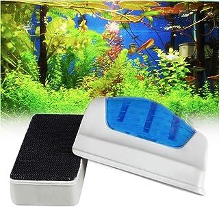 PerPure 水槽磁力ブラシ 水族館グラス用ブラシ 水槽 掃除 金魚鉢クリーン  コケ取り ガラスクリーナー 水槽表面汚れ・水槽内廃棄物掃除可能 強力清潔