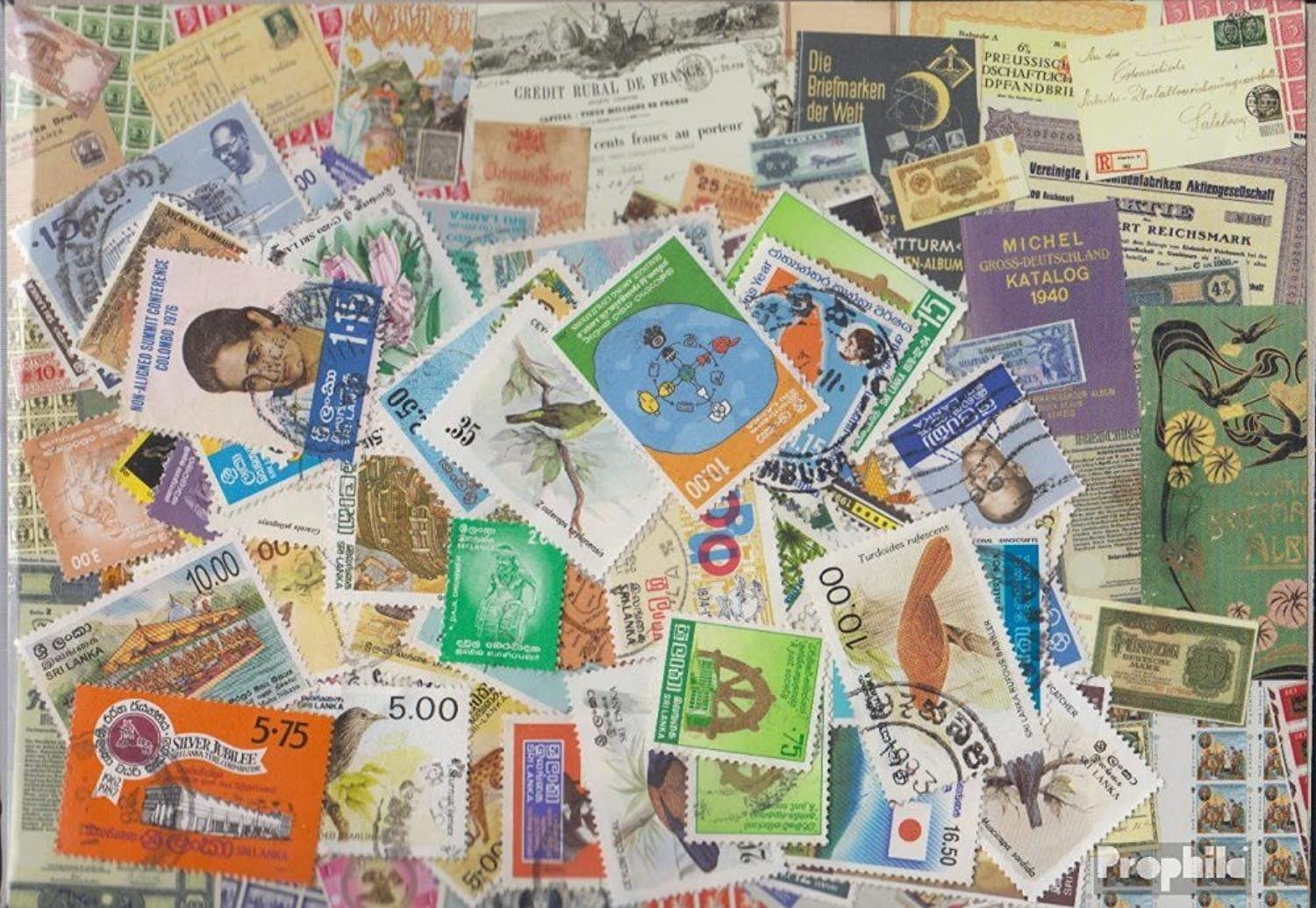 Sri Lanka 500 different stamps (Stamps for collectors)
