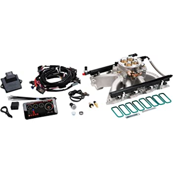 Edelbrock 350701 Pro-Flo 2 Electronic Fuel Injection Kit Polished Finish Incl Manifold//Throttle Body//Fuel Rails//Fuel Inj//ECU//Calibration Module For Use With Vortec//E-Tec Cylinder Heads Pro-Flo 2 Electronic Fuel Injection Kit