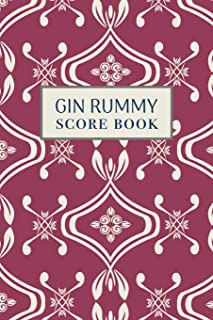 Gin Rummy Score Book: 6x9, 110 pages, Keep Track of Scoring Card Games